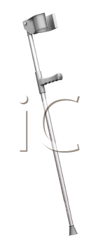Royalty Free Clipart Image of a 3D Crutch