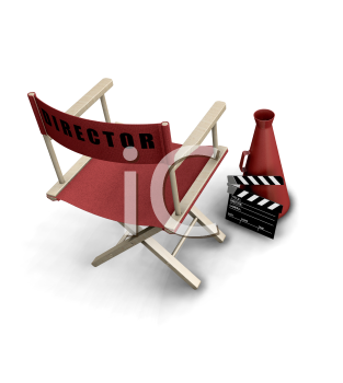 Royalty Free Clipart Image of Director's Items