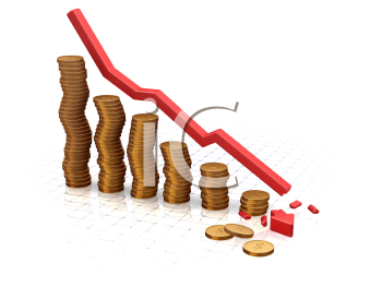Royalty Free Clipart Image of a Crash Chart