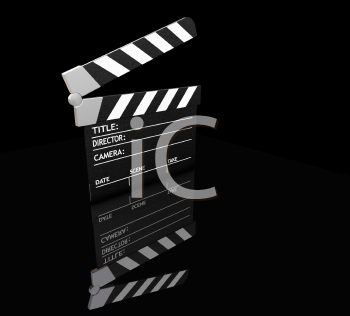Royalty Free Clipart Image of a Clapper Board