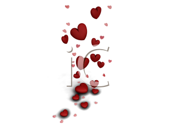 Royalty Free Clipart Image of Falling Hearts
