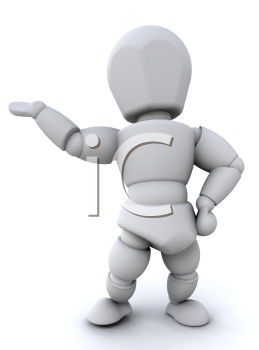 Royalty Free Clipart Image of a Person With Their Hand Out