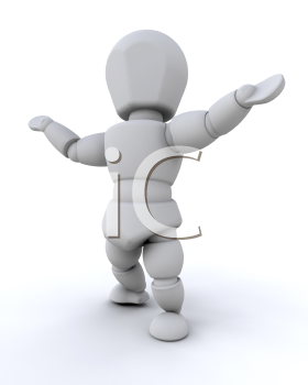 Royalty Free Clipart Image of a Person in a Welcoming Pose