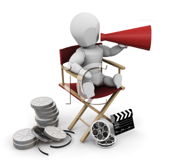 Royalty Free Clipart Image of a Film Director