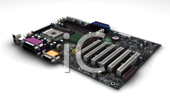 Royalty Free Clipart Image of a Motherboard