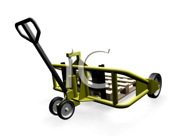 Royalty Free Clipart Image of a Trolley