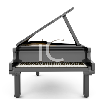 Royalty Free Clipart Image of a Piano