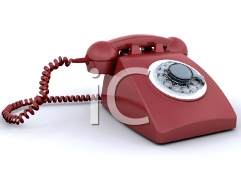 Royalty Free Clipart Image of a Rotary Phone