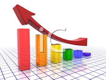 Royalty Free Clipart Image of a Chart Showing Profits