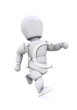 Royalty Free Clipart Image of a Running Man