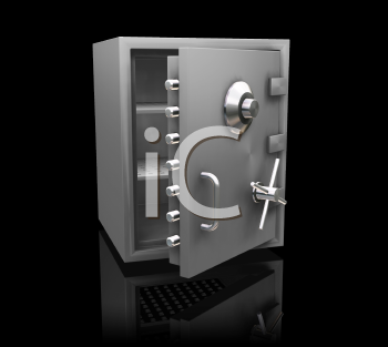 Royalty Free Clipart Image of a Bank Safe