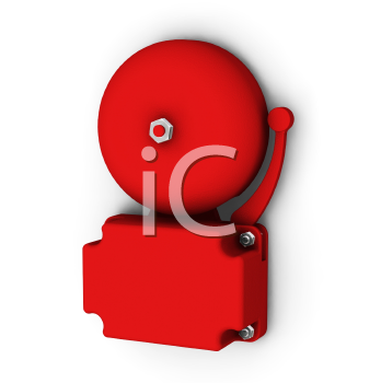 Royalty Free Clipart Image of an Alarm Bell