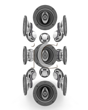 Royalty Free Clipart Image of a Speakers
