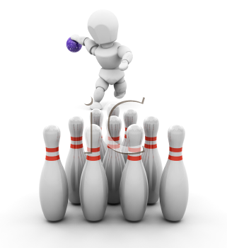 Royalty Free Clipart Image of a Bowler