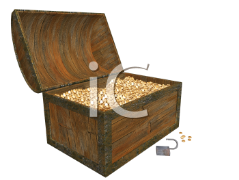 Royalty Free Clipart Image of a Treasure Chest