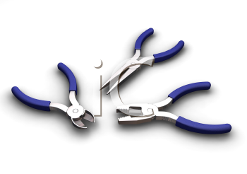Royalty Free Clipart Image of Pliers and Wire Cutters