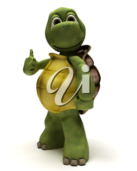 3D render of a tortoise with thumbs up