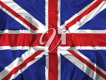 Union Jack flag with folds and creases
