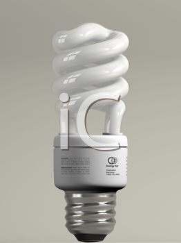 Royalty Free Clipart Image of an Energy Bulb