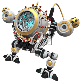 Royalty Free Clipart Image of a Malware Robot