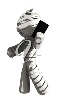Mummy or Personal Injury Concept Having Conversation on Phone