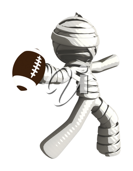 Mummy or Personal Injury Concept Throwing a Football