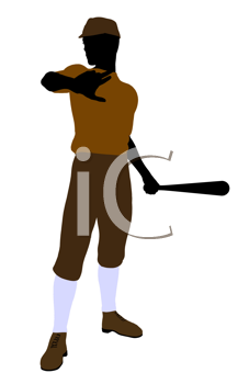 Royalty Free Clipart Image of a Baseball Player