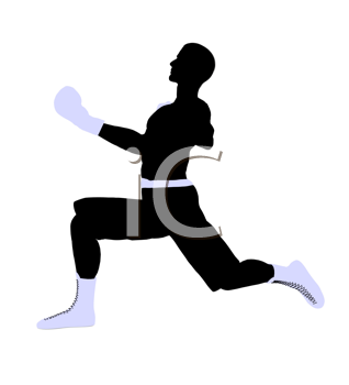 Royalty Free Clipart Image of a Boxer