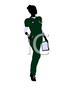 Royalty Free Clipart Image of a Female Doctor