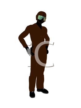 Royalty Free Clipart Image of a Pilot