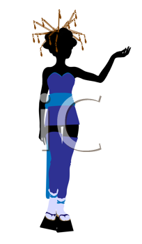Royalty Free Clipart Image of an Asian Girl
