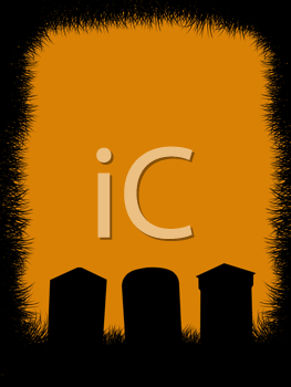 Royalty Free Clipart Image of a Cemetery