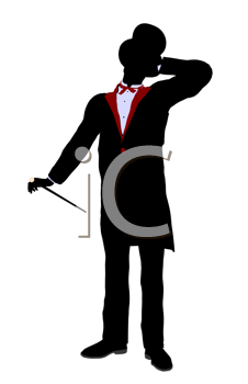 Royalty Free Clipart Image of a Magician