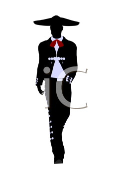Royalty Free Clipart Image of a Mariachi Man