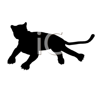 Royalty Free Clipart Image of a Black Panther