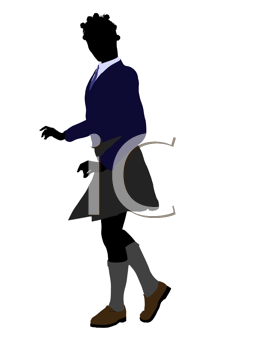 Royalty Free Clipart Image of a Girl in a School Uniform