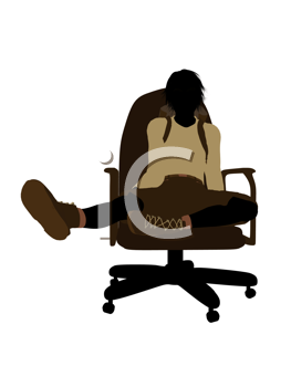 Royalty Free Clipart Image of a Boy on a Chair