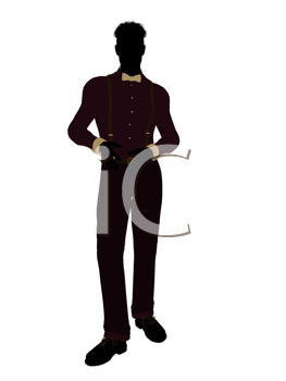 Royalty Free Clipart Image of a Man in Trendy Clothes
