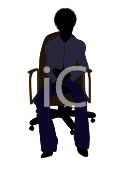 Royalty Free Photo of a Woman in an Office Chair