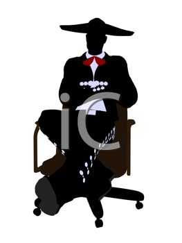 Royalty Free Photo of a Mariachi Man on a Chair