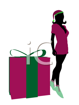 Royalty Free Clipart Image of a Christmas Elf