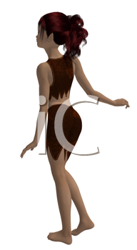 Royalty Free Clipart Image of a Young Girl