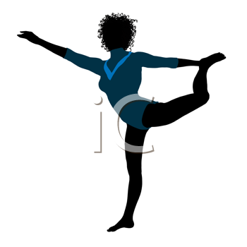 Royalty Free Clipart Image of a Gymnast