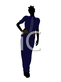 Royalty Free Clipart Image of a Woman in a Police Uniform