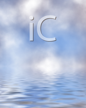 Royalty Free Clipart Image of a Water and Bokeh Background