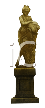 Royalty Free Clipart Image of a Statue