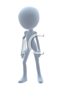 Royalty Free Clipart Image of a 3D Guy