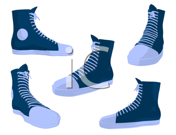Royalty Free Clipart Image of Sneakers