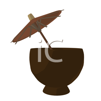 Royalty Free Clipart Image of a Tropical Drink
