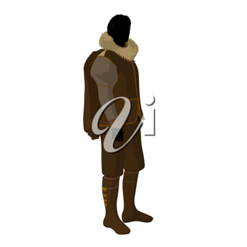 Royalty Free Clipart Image of a Man in Elizabethan Costume
